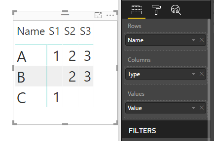 Power BI > Hide NULL or BLANK values in Matrix visual