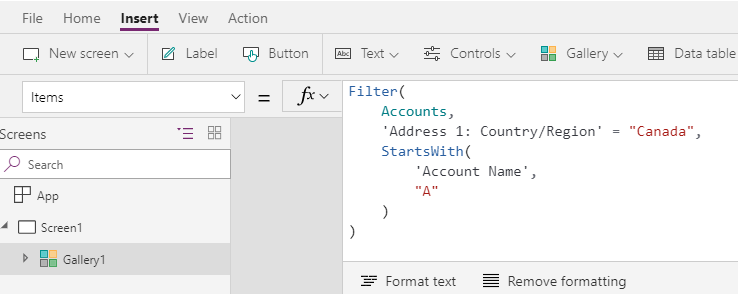 Sorting, Filtering & Searching features of PowerApps – Inkeysolutions