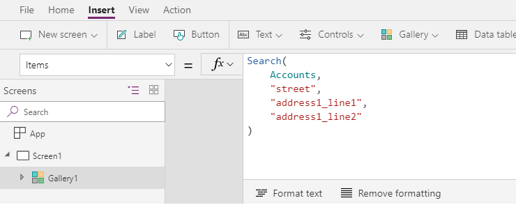 Sorting, Filtering & Searching features of PowerApps