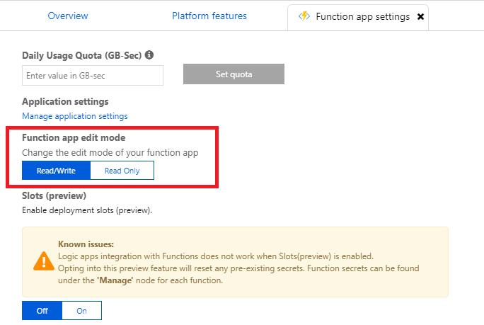 Make Azure Function App editable or read-only – Inkeysolutions